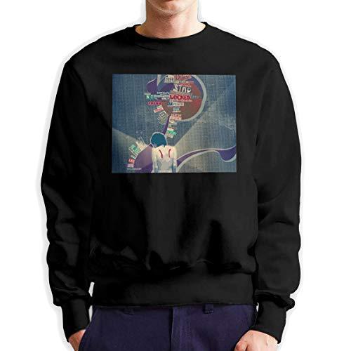 Kfacvy Mens Pullover Hood Sweatshirts Lange mouwen Mode Casual Losse Blouse Topjes.Urban Look mannen Active Soft Fleece gevoerde Hooded Pullover Zwart