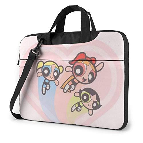 XCNGG The Powerpuff Girls Laptop Bag Business Briefcase for Men Women, Shoulder Messenger Laptop Sleeve Case Carrying Bag- 15.6 Inch