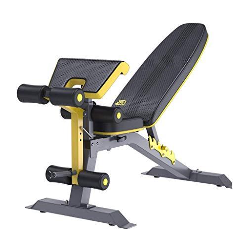 DFKDGL Fitnessstoel Sit-ups Fitnessapparatuur Thuis Multifunctionele Assist Vogelbank Dumbbell Kruk (Kleur : Zwart, Maat : 133 * 57 * 87cm)