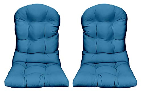 RSH Décor - Indoor/Outdoor Tufted Adirondack Chair Seat Cushion - Choose Color (2 Solid Pool Blue)