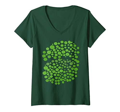 Mujer Brócoli Divertido Disfraz de Grupo Pareja Hombre Mujer Niños Camiseta Cuello V