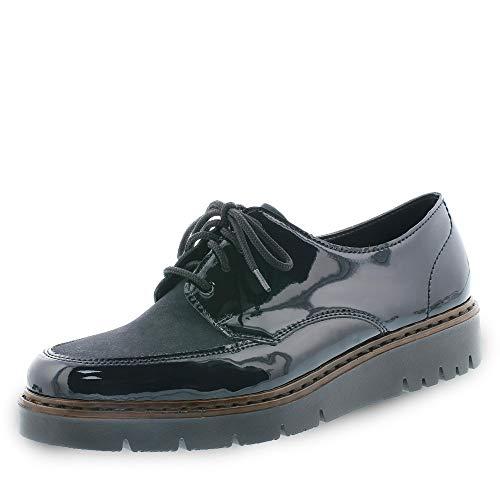 Rieker M5806, Zapatos de Cordones Derby para Mujer, Azul (Marine/Atlantic 15), 41 EU