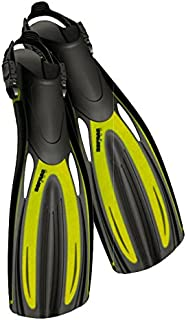 Sopras Sub Nautilus Fins scuba diving Open Hell Fin YELLOW Size MD Snorkel Dive