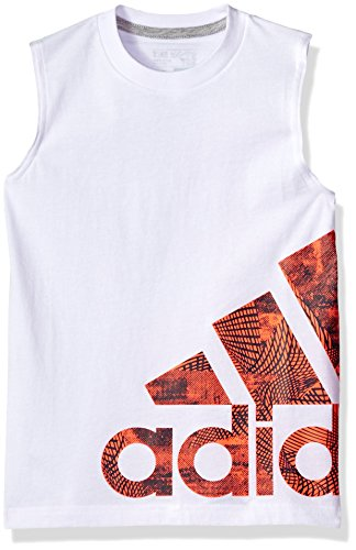 adidas Boys' Little Active Tank Top, White, 5