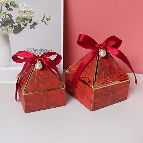 geschenkdoos LKU Gem Tower Bronzing Candy Box Klein karton Trouwkaart Doos Decoratie Papier Geschenkdoos Verpakking, L 8.5x8.5x10 cm