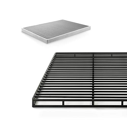 Zinus 4 Inch Low Profile Quick Lock Smart Box Spring/Mattress Foundation/Strong Steel Structure/Easy Assembly, Queen