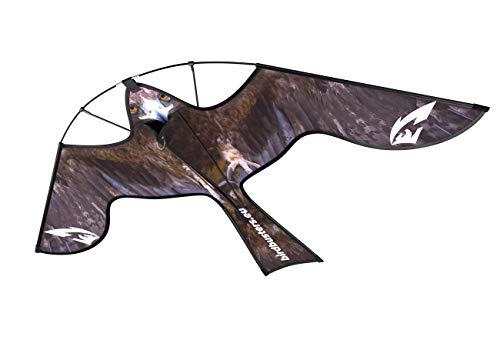 Birdbusters Vogelabwehr-Drachen - Greifvogel-Attrappe gegen Tauben, Krähen, Raben & andere Vögel - Ideal als Vogelscheuche für Garten & Acker - Spannweite 1,40 m, ohne Glasfaser-Teleskopstab