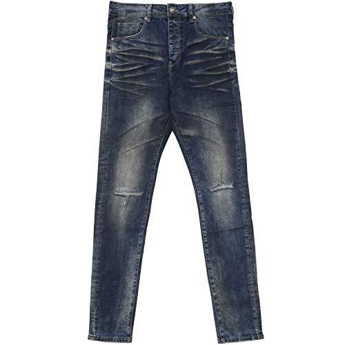 Sixth June Herren Skinny Jeans Denim Dirty blau W 32