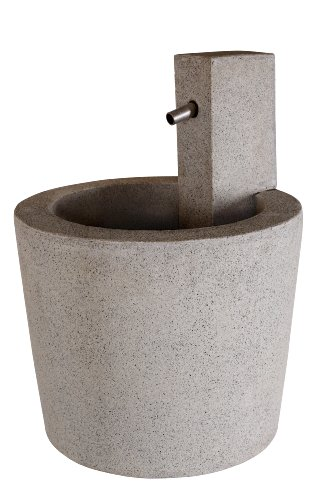 Esteras 8512024459 Fountainslite Bojava 59 Sandstone Garden Fountain, 45 x 45 x 59 cm