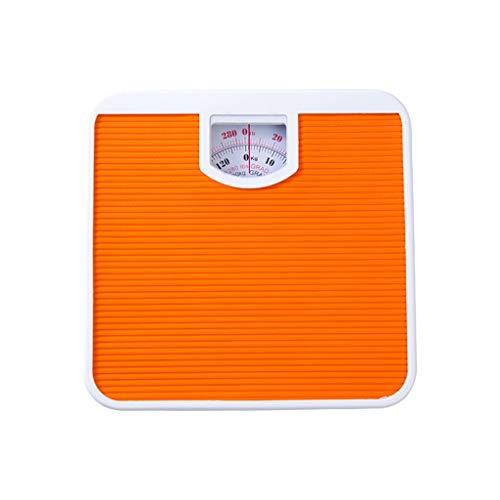 LIAOLEI10 Escala de peso Colchoneta de pesaje mecánico de alta calidad para báscula de baño Balanza de resorte 130 kg, AMARILLO 27X27X5
