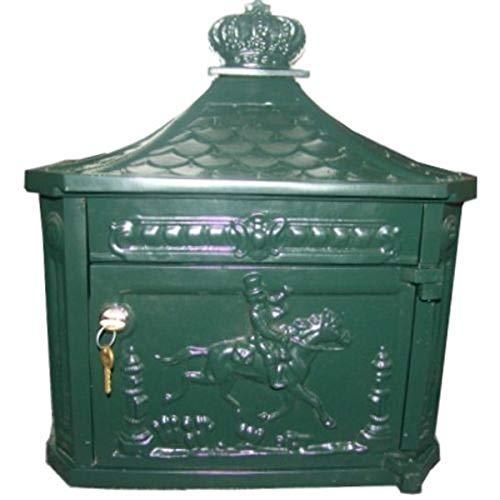 Casa Padrino Wandbriefkasten Antik Jugendstil Grün Briefkasten Postkasten Mod2