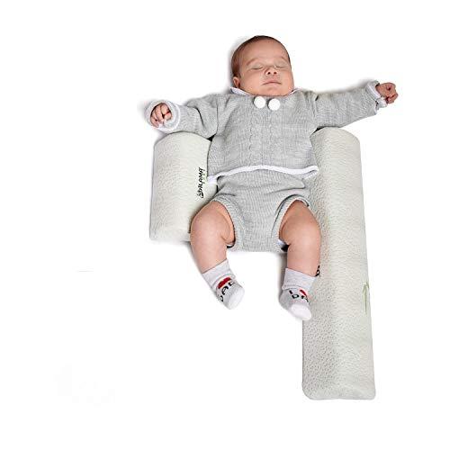 Dilamababy Seitenstützkissen für Baby Mehrzweck-Baby Keilkissen Bambusgewebe Abnehmbares und Waschbares