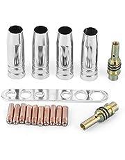 Lastoorts Nozzle, 17 stks Auto Lassen Contact Tips M-I-G Lasmondstuk 0.8mm Contact Tips Fit voor Bin-zel 15AK