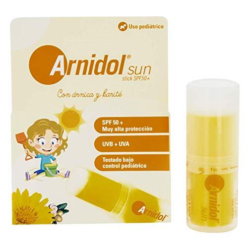 ARNIDOL Sun stick - SPF 50+, Alta protección UVA y UVB, Barra 15g