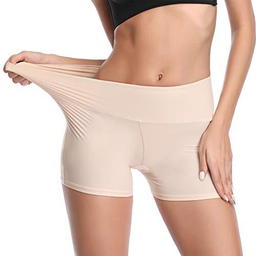 JOYSHAPER Boyshorts Panties for Women Anti Chafing Underwear Slip Shorts for Women Under Dress Nude
