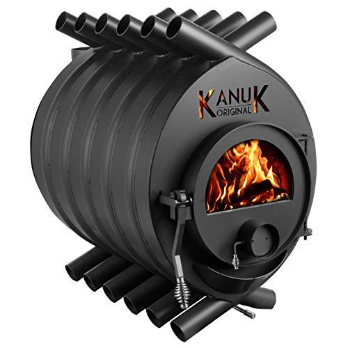 Warmluftofen Kanuk® Original 22 kW - Werkstattofen - Schwedenofen - Energieeffizienzklasse A+ - Zulassung für Deutschland, Österreich und Schweiz - BimSchV (ohne Seitenverkleidung, ohne Untergestell)
