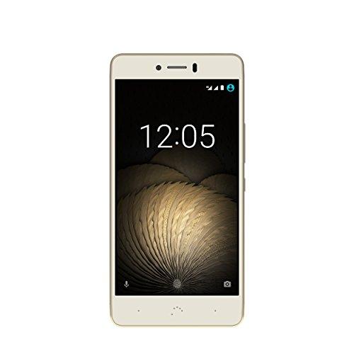 BQ Aquaris U Plus - Smartphone de 5'' (4G, WiFi, Bluetooth 4.2, Qualcomm Snapdragon 430 Octa Core, 16 GB de Memoria Interna, 2 GB de RAM, cámara de 16 MP, Android 6.0.1 Marshmallow) Blanco y Dorado