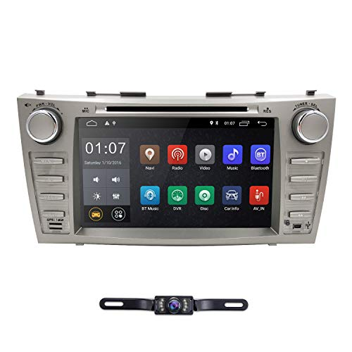 Android 10 Quad Core Car DVD Player For Toyota Camry 2007 - 2011 Aurion 2006 - 2011 8 Inch Screen GPS Navi BT Radio RDS DTV USB Android/iPhone Mirrorlink SWC Rearview camera USA Map