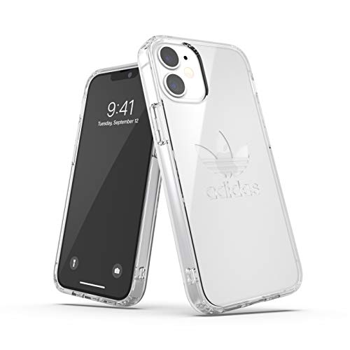 adidas Funda diseñada para iPhone 12 Mini 5.4, Transparente, a Prueba de caídas, Bordes elevados, Carcasa Original a Prueba de Golpes, Funda Protectora Transparente