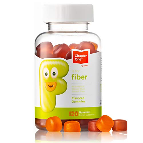Chapter One Fiber Gummies, with Natural Chicory Root Soluble Fiber, Certified Kosher (120 Flavored Gummies)
