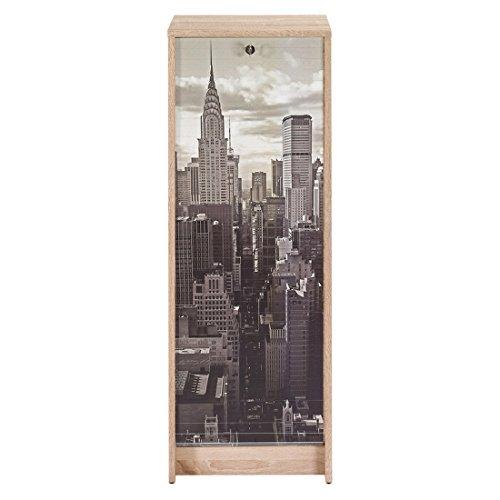 ACTUAL DIFFUSION Boost Classeur à Rideau Chêne Naturel Hauteur 104 cm-Coloris-New York 500, 38,5x38x103,8 cm