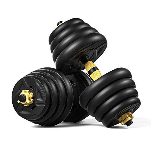 XUEXIU 5 En 1 Dumbbell & Barbell Set, Conjunto De Pesas De Dumbells Ajustables De 88 Libras, Cuatro Modos De Fitness Ejercicio del Gimnasio del Hogar (Color : 30kg)