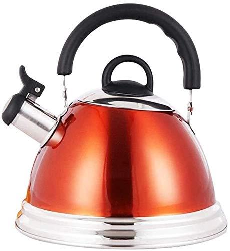 Bouilloire induction Poêle à gaz Bouilloire 304 bouilloire en acier inoxydable ménage épaisseur Théière sieste de grande capacité Cuisine à induction de grande capacité 3L 22x13cm WHLONG