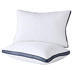 Meoflaw Pillows for Sleeping(2-Pack), Luxury Hotel Gel Pillow,Bed Pillows for Side and Back Sleeper (Queen)