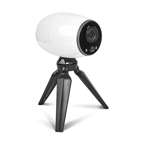 Battery Powered Wireless Outdoor Security Camera with Smartphone App,WiFi Home Surveillance IP Camera for Baby/Elder/Pet/Nanny Monitor,Two-Way Audio Night Vision,with Tripod(Without Battery)