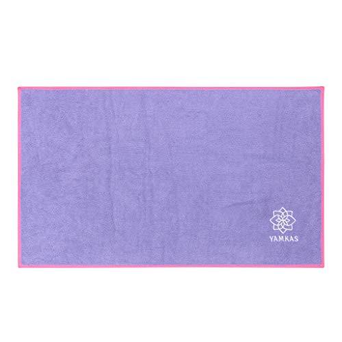 Yamkas Toalla de Microfibra • 61 x 35 cm • Compacta • Ultraligera y de Secado rápido Super Absorbente • Ideal para Yoga Pilates Deportiva • Microfiber Towel • Violet