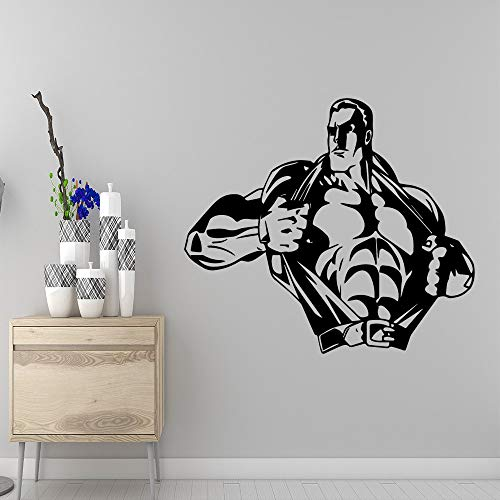 Movable strong man wall sticker kids room nursery home decoration accessories 28x31cm