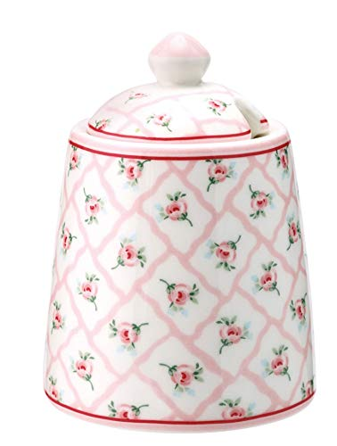 GreenGate - Zuckertopf, Zuckerdose - Rita - Pale pink - Porzellan - Ø 6 cm - Höhe 10 cm