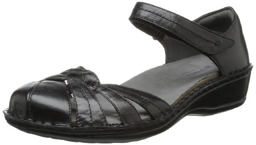 Aravon Women's Clarissa Fisherman Sandal,Black,5 D US