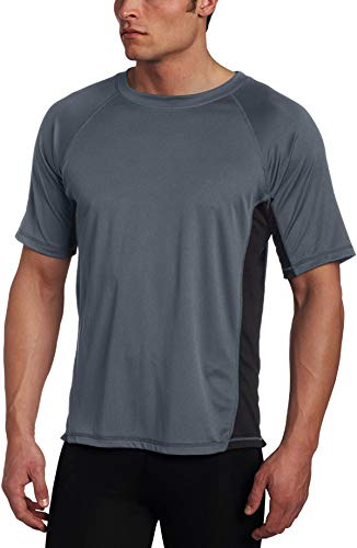 Kanu Surf Men's CB Rashguard UPF 50+ Swim Shirts (Regular & Extended Sizes), Charcoal, 5X