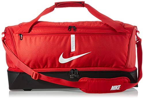 Nike Academy Team, Calcio Duffel Bag Unisex Adulto, Universita 'Red/Nero/Bianco, MISC