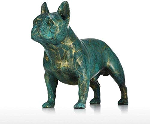 aipipl Escultura Esculturas, Objeto Decorativo para el hogar, Arte, Coleccin Oficina, Figuras coleccionables Escultura Bulldog Perro Estatua Bronce Escultura de Animales Decoracin