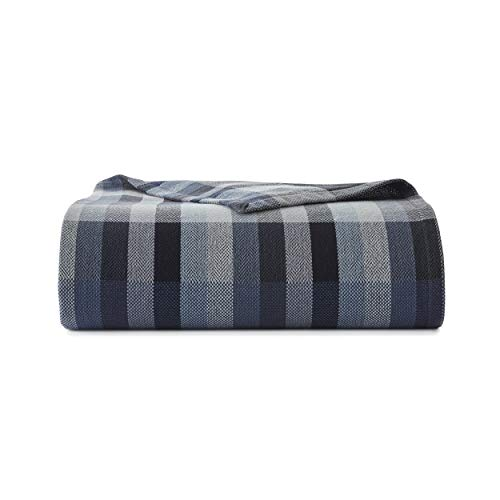 Eddie Bauer Windsor Stripe Blanket, King, Blue