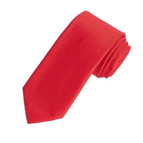 Amazon Essentials Men's Classic Solid Necktie, Red, One Size
