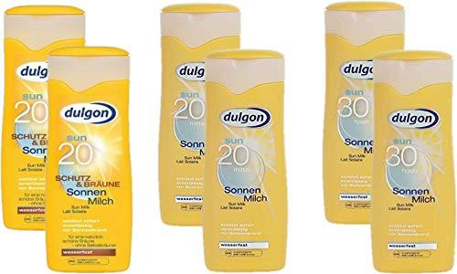 dulgon Sonnencreme Sparset 2xLSF20 Sonnenmilch Schutz&Bräune 250ml + 2xLSF20 Sonnenmilch 250ml + 2xLSF30 Sonnenmilch 250ml
