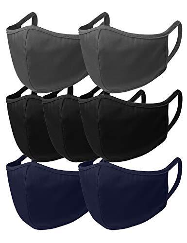 Doublju Unisex Seamless Face Mask Bandanas for Dust Outdoors Sports