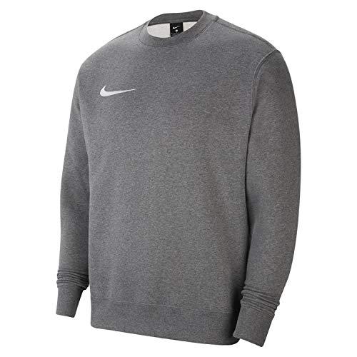 Nike Men's CW6902-071_M Sweatshirt, Charcoal Heather/White, M