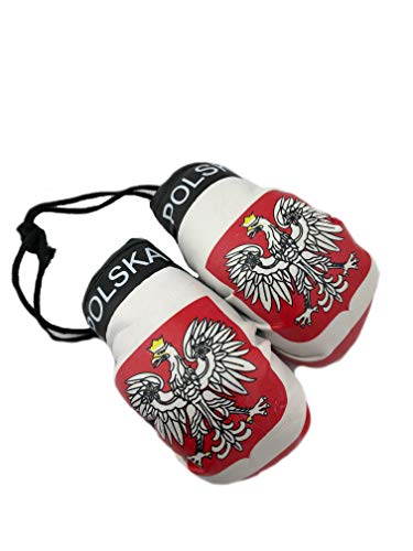 Red Hat Ent Hanging Car Mirror Mini Boxing Gloves (Poland)