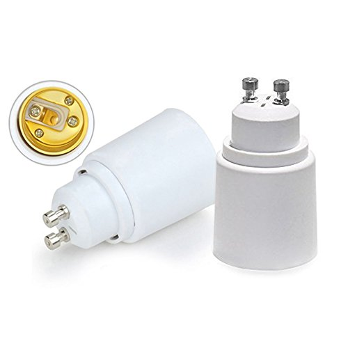 VEDA® 5 Stück LogiLight Lampensockel GU10, E27 Sockeladapter Buchsenwandler