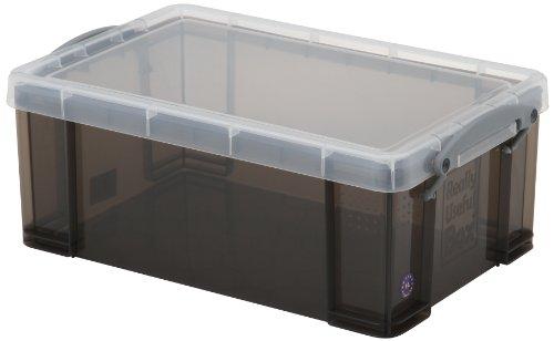 Really Useful, Kunststoffbox / Aufbewahrungsbox mit Deckel und Griffen, 9 L anthrazit