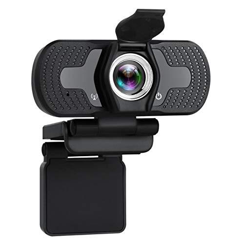 Webcam 1080P Cámara Web Completa HD con Micrófono Web CAM 1080p para PC Computer Mac Laptop Desktop Youtube Skype USB Camara Web JNSXT (Color : 1080P)