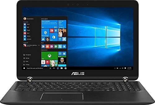 Asus 2-in-1 15.6 inches Touch-Screen FHD Laptop, Intel Core i7-7500U, 12GB DDR4 RAM, NVIDIA GeForce 940MX 2GB, 2TB HDD, HDMI, Backlit keyboard, HD Webcam, Win10 black aluminum (Renewed)