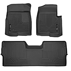 Custom Car Floor Mats for Ford Mustang 2010-2014 All Weather Waterproof Non-Slip Full Covered Protection Advanced Performance Liners Car Liner Black