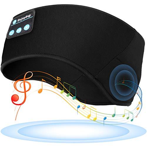 TOPOINT - Diadema con Bluetooth inalámbrica para dormir, para entrenamiento, correr, yoga, color negro