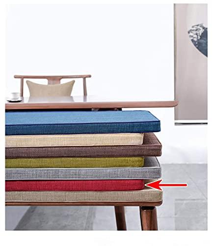 Cojín de Asiento de Banco para Muebles de Patio, Banco de Cocina o Comedor, Uso en Interiores y Exteriores, cómodo cojín de Banco para Exteriores, Rojo, 60 × 30 × 3cm (23 × 12 × 1.2in)