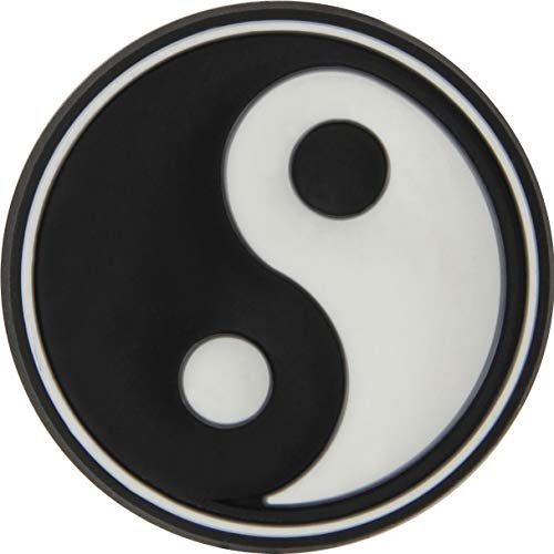 Crocs Jibbitz Symbol-Schuhanstecker | Individualisieren Sie Ihre Crocs mit Jibbitz Yin Yang Symbol One-Size